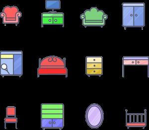 מגוון של רהיטים